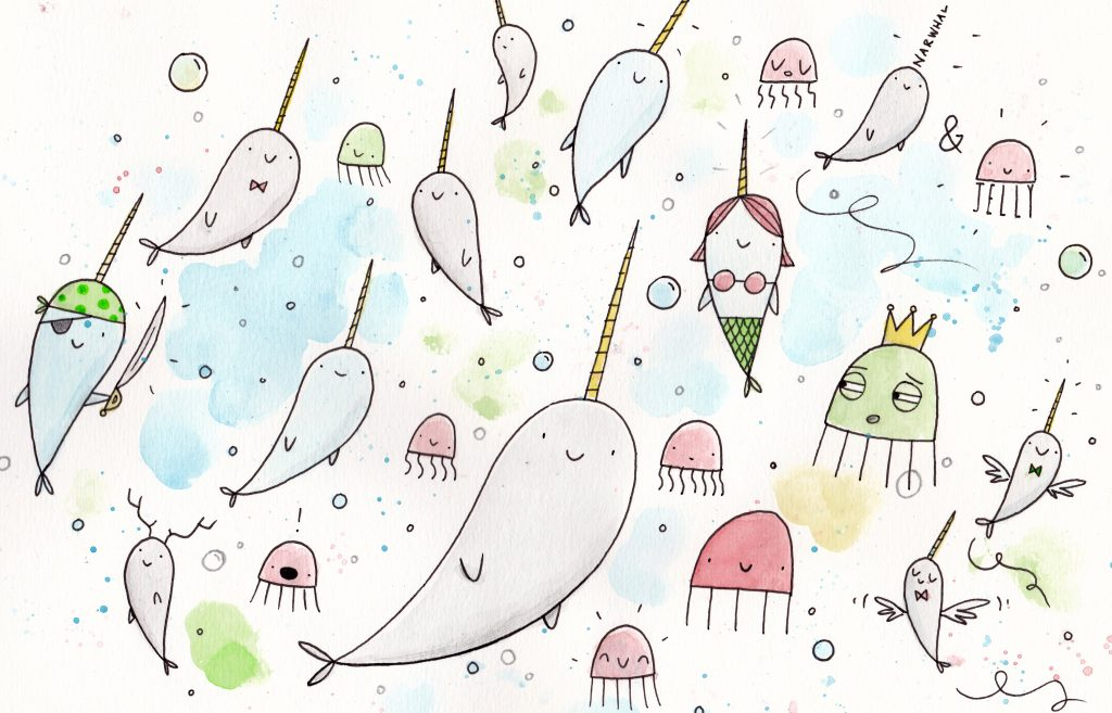 Image of: Caron Whale Those Publishers including Tundra Showed The New And Improved in My Opinion Narwhal Bolcom Behind The Books Narwhal And Jelly
